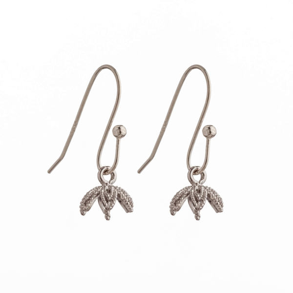 Ear Wires with Outer Ball and Cup an Peg Mounting in Sterling Silver 20.5mm x 8.2mm x 8.2mm